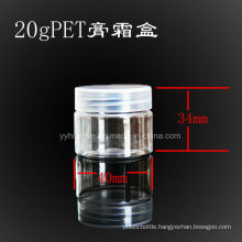 20ml Pet Clear cosmetic Jar with PP Lid/Plastic Jar/Wide Mouth/Candy Jar