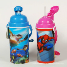Botella de agua 3D Lenticular para niños