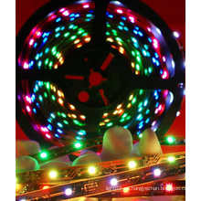 Impermeable RGB tira flexible con persecución (30LEDs / M)