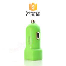 5.Cheap Cargador de coche dual colorido al por mayor del USB para el iphone Cargador de coche universal modificado para requisitos particulares de encargo del mini USB
