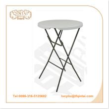 Venta al por mayor portátil HDPE plástico redondo plegable / mesa de fiesta
