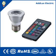 Spot LED avec télécommande 5W GU10 COB