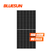 Bluesun soler panel half cut painel sol 440w half cell solar panel with 166mm cells