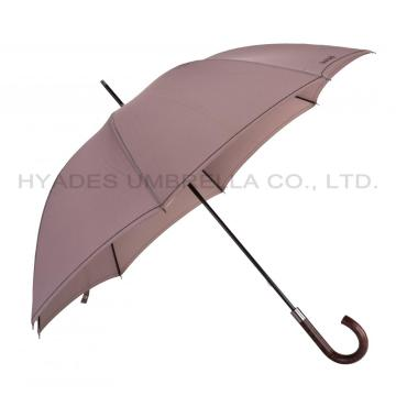 Classic Mens Straight Umbrella Hand offen