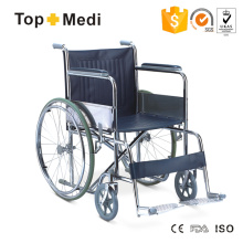 Topmedi Standard Manual Steel Wheelchair for Disabled