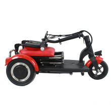 300W dual motor folding mobility scooter power electric wheelchair