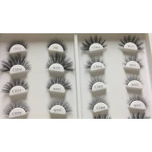 CH67L Hitomi eyelash packaging box private label Cruelty free vegan faux mink eyelashes 4D faux mink lashes