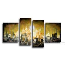 Handmade Canvas Art Cityscape Landscape Oil Painting (LA4-003)