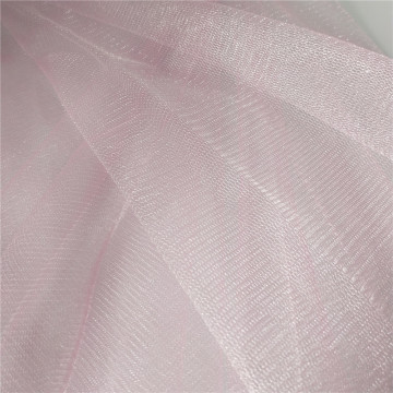Pink Glimmer Mesh Tulle Fabric para vestido