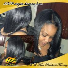 Горячая продажа дешевые Девы человеческих волос кружева передние короткие парики для чернокожих женщин