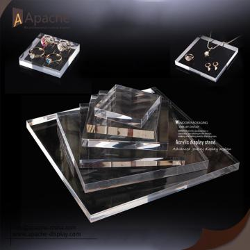 Clear Brushed Black Acrylic Jewelry Counter Display Set