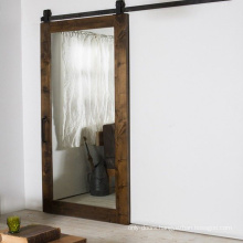 Rustic Style Finished Mirror Sliding Barn Doors