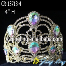 Fashion Gold Wholesale Pageant Crown en venta