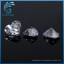 Fábrica al por mayor 5X5mm forma de corazón Cubic Zirconia piedras preciosas para la joyería