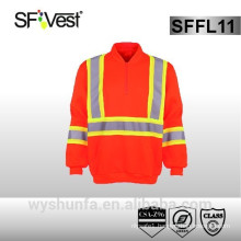 High Visibility Reflective Clothing Sweatshirt With kangaroo pocket
