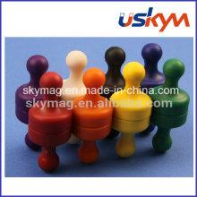 Boutons à bouton-poussoirs magnétiques les plus vendus, aimant de tableau blanc
