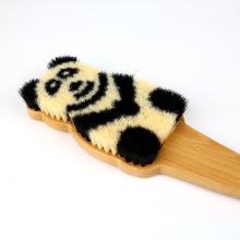 Panda Pattern with Wooden Handle Super Bath Brush