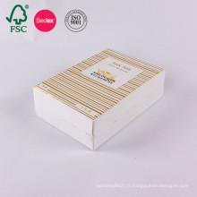 Boîte de cadeau de papier d'emballage de papier d'art vide cosmétique personnalisé