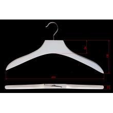Waterbase imprime blanco ropa perchas madera
