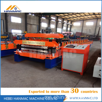 Double Deck Roof Tiles Roll Forming Machine