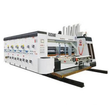 Carton box machinery manufacturer 2color automatic print slot die cut machine with slotter attachment stacker