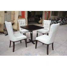 White color Modern restaurant chair and square table set XYN500