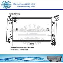 Kühler für Toyota Corolla / MATRIX / VIBE 03-04 / Hersteller & Direktverkauf!