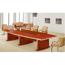 Table de réunion faite sur commande de 8 personnes de placage de forces de défense principale de noix