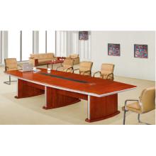Custom Built Walnut MDF Veneer 8 Person Meeting Table