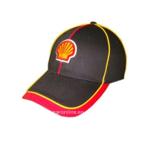 embroidery sports cap with yellow piping