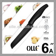 Serrated Bread Black Zirconia Ceramic Knife