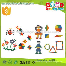 promotional discounts gabe toys parquetry tablets OEM wooden colorful pieces gabe toys