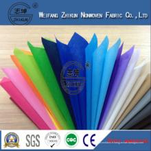 Tissu non tissé à 100% Polypropylène Spun-Bond multicolore pour sac à provisions
