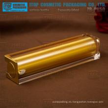 Bomba de la loción de la prensa de ZB-PK50 50ml buena calidad cosmética airless cuadrado doble capas botellas de 50ml