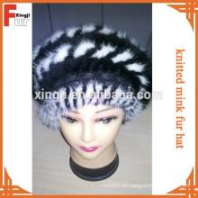 sombrero de piel animal de calidad superior teñido punto de la piel de visón