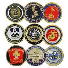 Pièce de défi américaine en émail doux avec logo design personnalisé