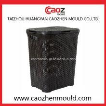 Molde da cesta de lavanderia da injeção plástica com projeto do Rattan