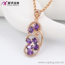 Moda elegante Niza -Quality mujeres aleación de joyas de oro collar de cadena con diamante -42881