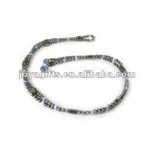 """O olho de gato azul magnético frisou o envoltório Bracelets & Necklace 36 """""""