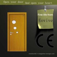 Transfert de chaleur portes en bois vernis couleur design