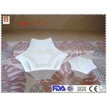 """A venda quente 4 """"6"""" 8 """"forma do hexagram personalizou a bacia cerâmica"""