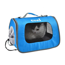 Oxford Breathable Mesh Built-In Ice Pad Cooling Pet Travel Carrier Bag