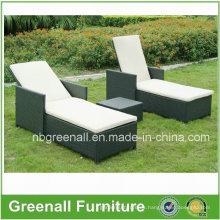 Muebles de Rattan / Muebles de jardín / Muebles de mimbre / Muebles de exterior / Chaise Lounger