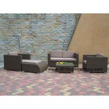 Muebles de Sofá para Exterior / Jardín / Ratán (6008)