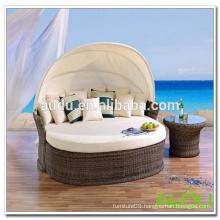 Audu Outdoor Garden Wicker Sofa Bed
