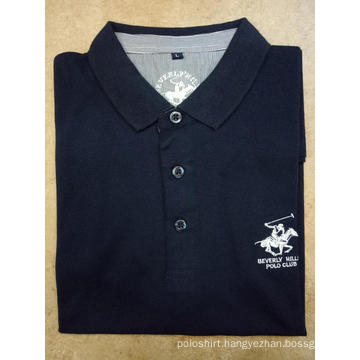 Men's Solid Pique Embroidery Short Sleeve Polo Shirts