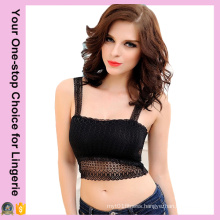 Black Sexy Girl′s Tube Top (14246-1)
