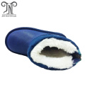 children's snow winter sheepskin boots with zipper