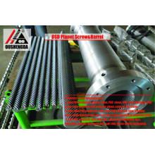 vis à cylindre planétaire de machine d'extrusion pour feuille de PVC