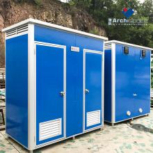 inodoro portátil prefabricado sala de exposición inodoro móvil prefabricado